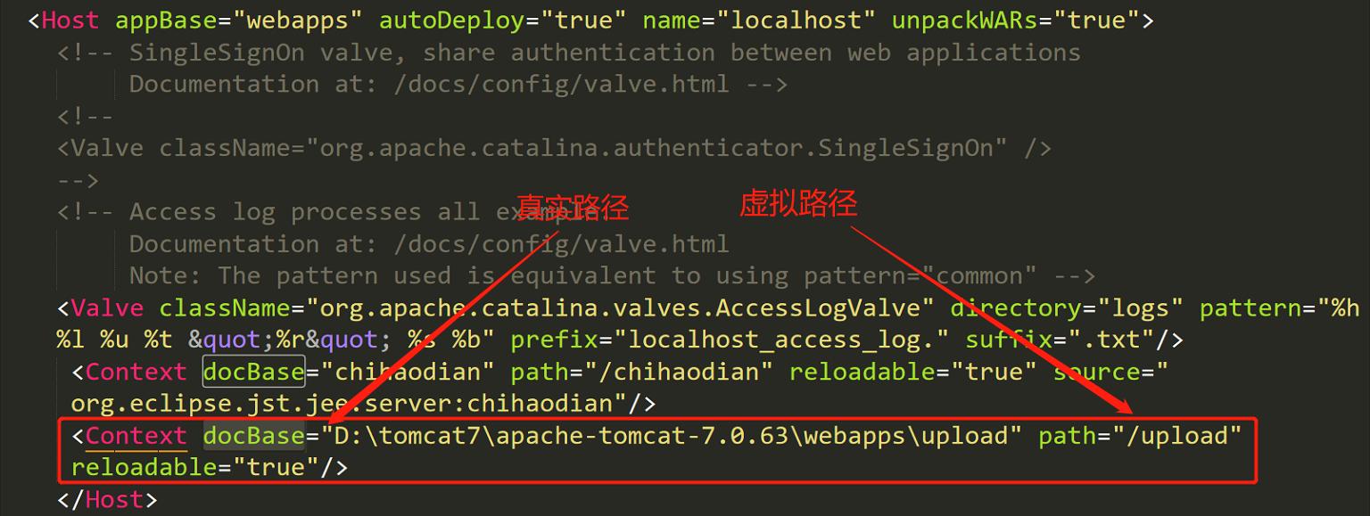 Eclipse中java web配置虚拟路径,解决无法加载静态upload图片问题